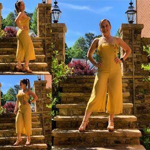 Pants - New!!! Button Front Mustard Jumpsuit